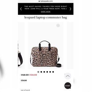 Kate Spade Leopard Laptop Commuter Bag